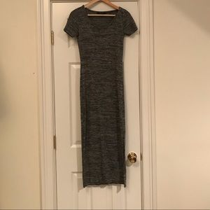 H&M dark grey heathered maxi dress